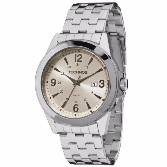 Relógio Technos Masculino Steel Prata - 2115MLE 0X 2115MLE 0X - Prata 1ad744ec0b