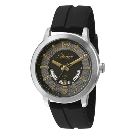 96d425f666c Relógio Condor Masculino CO2115UU K8P - Prata e Preto - Compre Agora ...