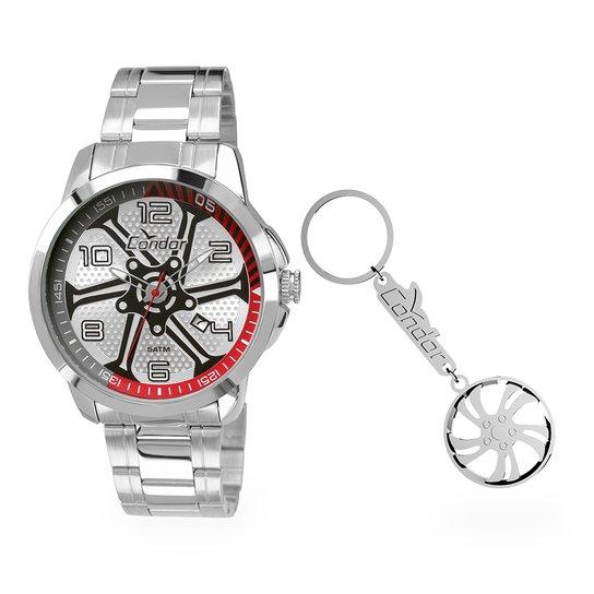 ff711d74108 Kit Relógio Condor Masculino Speed - Prata - Compre Agora