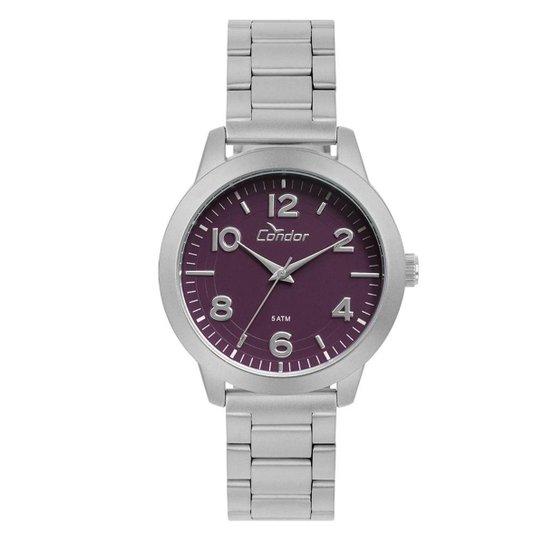 b3684ba7e81 Relógio Condor Feminino Bracelete Prata - CO2036KUP T3G CO2036KUP T3G -  Prata