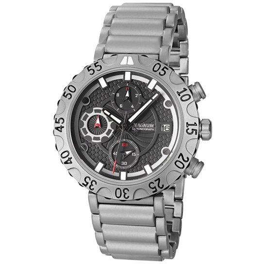 9cfd2d457db Relógio Masculino Magnum Analogico Com Cronografo Calendario - Prata ...