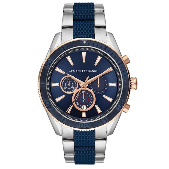 bb95a379955 Relógio Armani Exchange Masculino Enzo AX1819 1KN AX1819 1KN - Prata ...