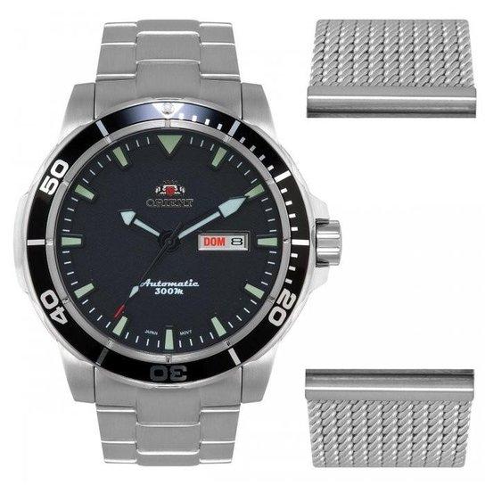 4527c9e8162 Relógio Orient Automático Diver Troca Pulseiras 469SS053 P1SX - Prata