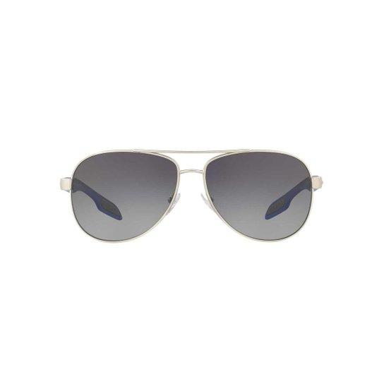 c159ee260 Óculos de Sol Ray-Ban Quadrado PS 53PS BenBow Masculino - Prata ...