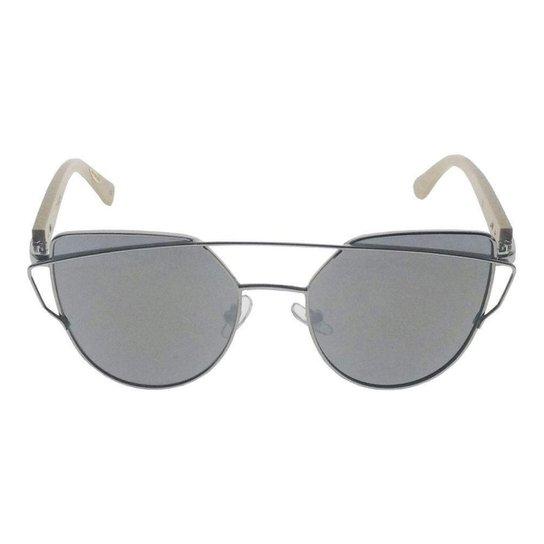 499259568 Óculos de Sol Khatto Cat Bamboo Feminino - Prata | Netshoes