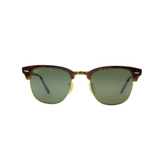 Óculos de Sol Ray Ban Clubmaster Folding - Marrom Escuro - Compre ... 864a94a28a