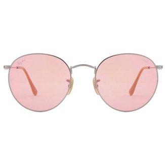 4e80245e8fb61 Óculos de Sol Ray-Ban Round Metal RB3447L - 9001A5 53
