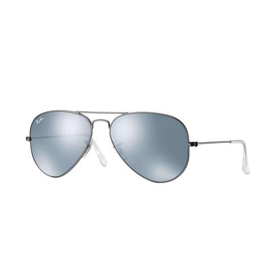 2fe76276a Óculos de Sol Ray-Ban Aviator Large Metal Masculino - Prata | Netshoes