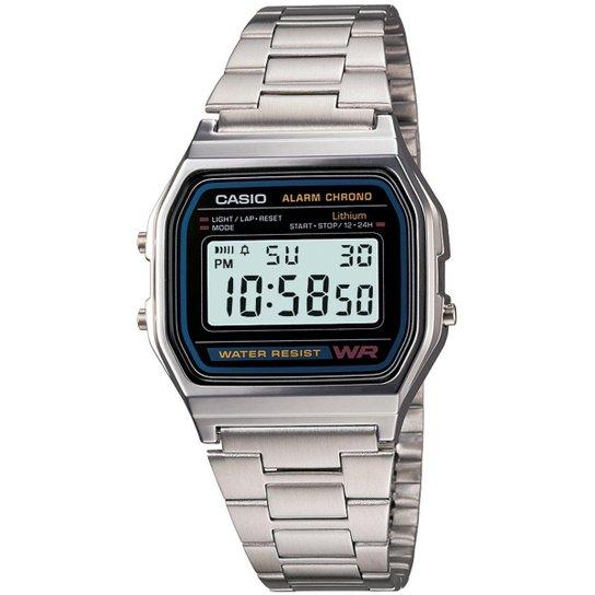 ab567c542bf Relógio Casio Vintage A158WA-1D - Prata - Compre Agora