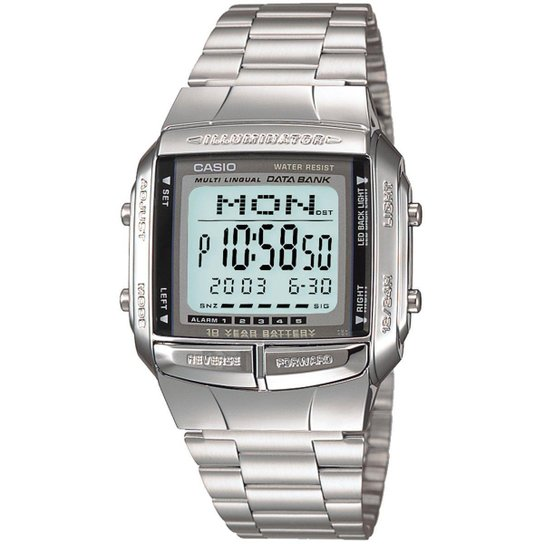 7f14f14da53 Relógio Casio Vintage DB-360-1ADF - Prata - Compre Agora
