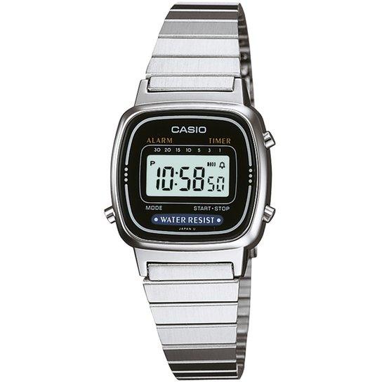 b0b09cb6e9 Relógio Casio Vintage LA670W Feminino - Prata | Netshoes