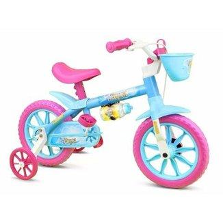 067cc8d50 Bicicleta Infantil Menina Aro 12 Aqua Nathor