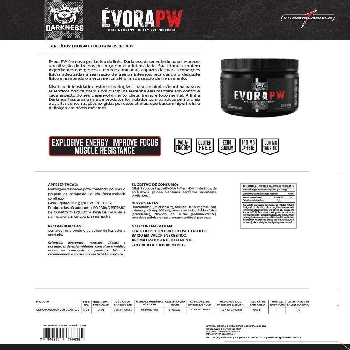 Évora PW Darkness 150G - IntegralMédica - 1