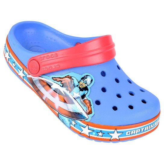 6b8168a37 Sandália Crocs Infantil Crocband Captain America Clog - Compre Agora ...