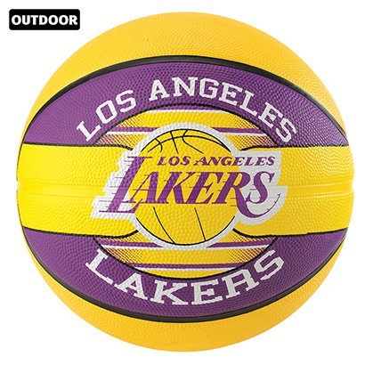 Bola de Basquete Spalding NBA Los Angeles Lakers Team Rubber Basketball Tam 7