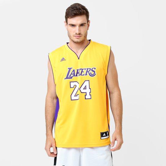 d3b2d0cc6 Camiseta Regata NBA Adidas Los Angeles Lakers Home - Bryant - Amarelo+Roxo
