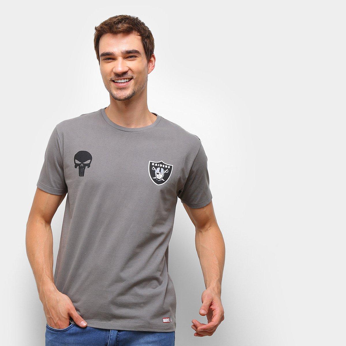 Camiseta NFL Las Vegas Raiders  Marvel O Justiceiro Masculina