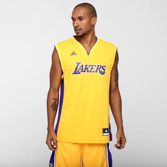 819c9c7157123 Camiseta Regata NBA Adidas Los Angeles Lakers Home - Compre Agora ...