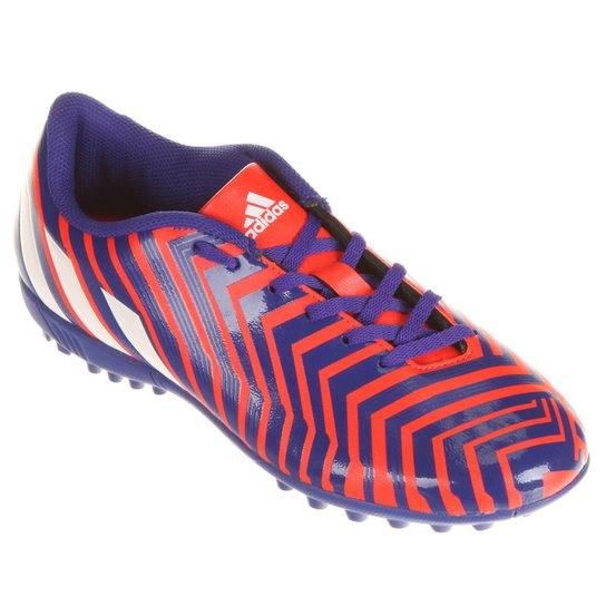 Chuteira Adidas Predito Instinct TF Society - Marinho+Vermelho ffb6d71486e4e