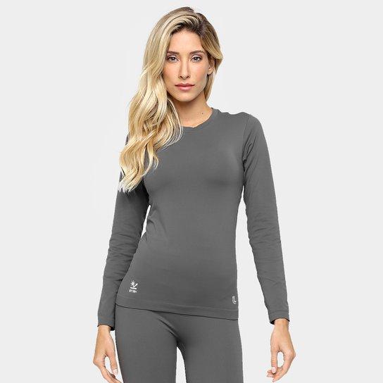 3791cc4aaf Camiseta Lupo Sport Com Proteção UV Manga Longa Feminina - Grafite ...