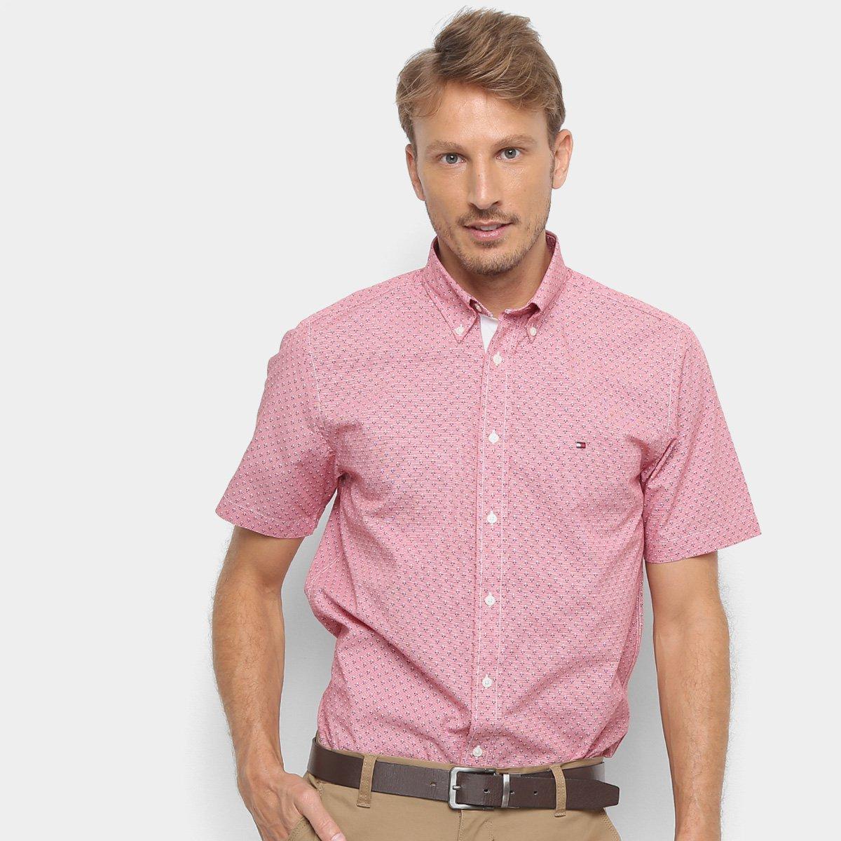 Foto 1 - Camisa Tommy Hilfiger EC Printed Houndstoo Masculina