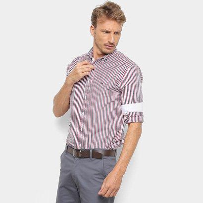 Camisa Manga Longa Tommy Hilfiger Listtrada Masculina