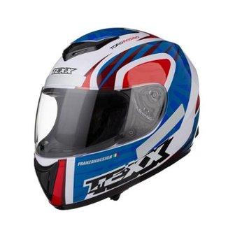 e021518c2 Capacete Motociclista Texx Like Viseira 2mm Toro Rosso