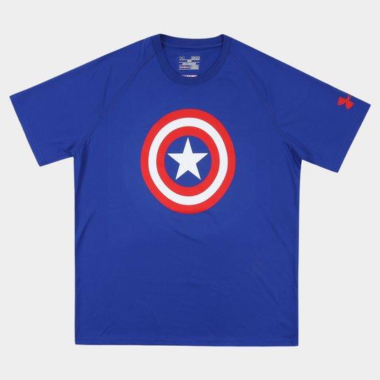 Camiseta Under Armour Capitão América - Compre Agora  0a83ced899b69