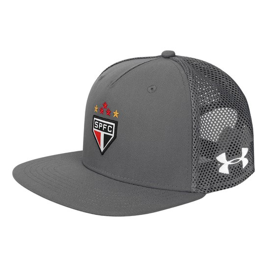 Boné Under Armour São Paulo Aba Reta 17 18 Huddle Trucker - Grafite ... 40a74437fdd