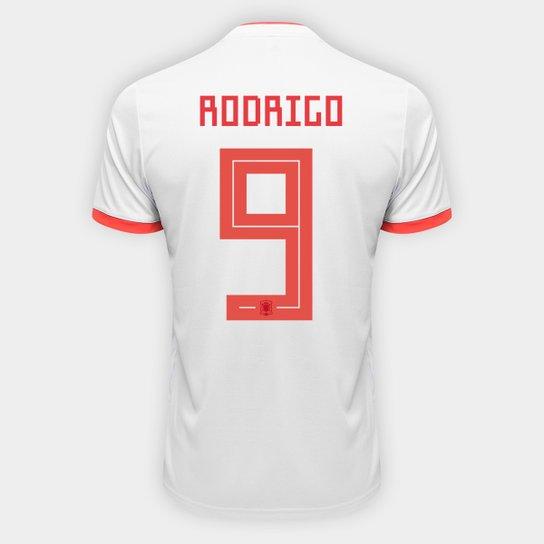 Camisa Seleção Espanha Away 2018 n° 9 Rodrigo - Torcedor Adidas Masculina -  Azul+ 43c5ea0431f2f