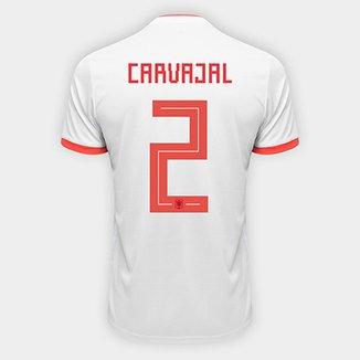 59a19db43273c Camisa Seleção Espanha Home 2018 n° 2 Carvajal - Torcedor Adidas Masculina