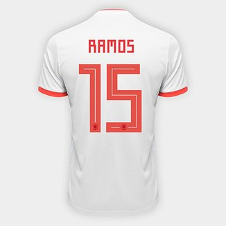 Camisa Seleção Espanha Away 2018 n° 15 Ramos - Torcedor Adidas Masculina ac492f22f2e9c