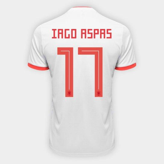 Camisa Seleção Espanha Away 2018 n° 17 Iago Aspas - Torcedor Adidas  Masculina - Azul 54379d549613f
