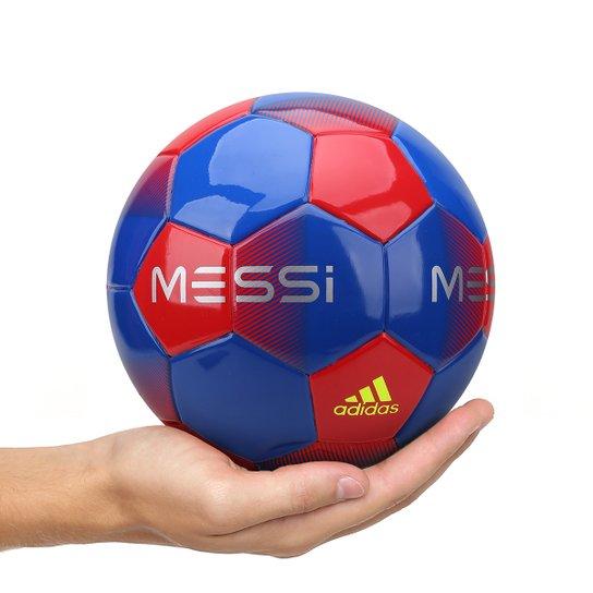 7211ea3950 Mini Bola de Futebol Adidas Messi Q1 - Azul e Vermelho - Compre ...