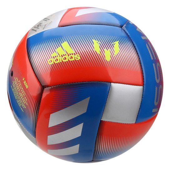 ddf6486fb1 Bola de Futebol Campo Adidas Capitano Messi Q1 - Azul e Vermelho ...