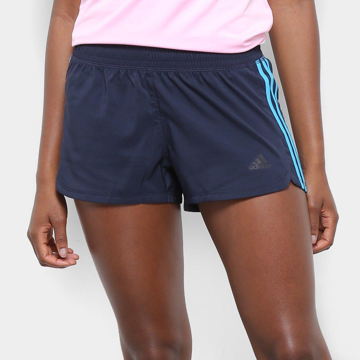 6a2689580b557 FornecedorNetshoes. Short Adidas Pacer 3 Stripes Feminino