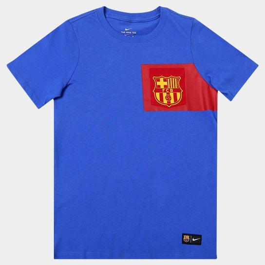 Camiseta Nike Barcelona Infantil - Compre Agora  963dcc01148af