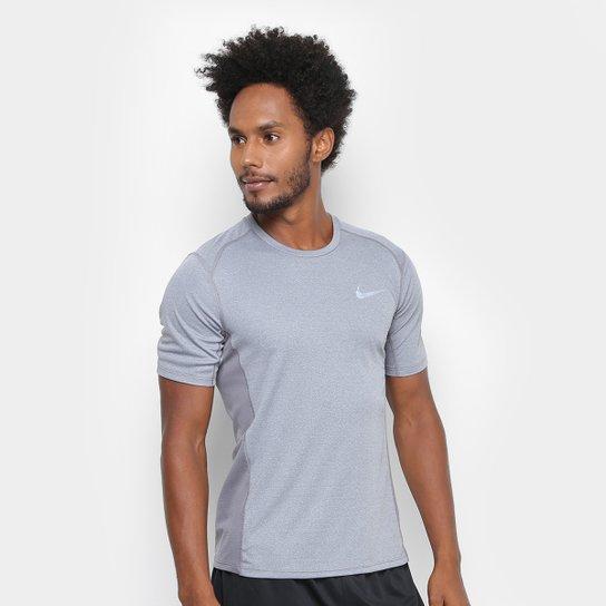 Camiseta Nike Dri-Fit Miler SS Masculina - Grafite - Compre Agora ... f1f04732fc760