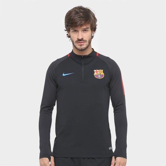 Blusão Barcelona Nike Squadra Dril Masculino - Compre Agora  817a2e724a4dc