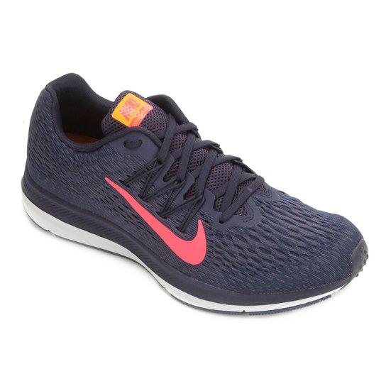 5d341b10e2f Tênis Nike Zoom Winflo 5 Masculino - Azul e Rosa - Compre Agora ...