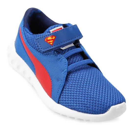 e61d57ee12d Tênis Infantil Puma Liga da Justiça Carson 2 V Ps Masculino - Azul+Vermelho