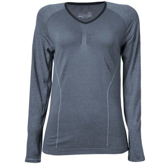 Camiseta Mizuno Feminina Compressão Run Seamless Crew 01a0c564a950b