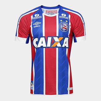 Camisa Bahia II 17 18 s nº C  Patrocínio - Torcedor Umbro Masculina d57d39966eb77