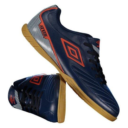 Chuteira Umbro Attak II Futsal - Azul e Vermelho - Compre Agora ... 1f0c69f41dfde