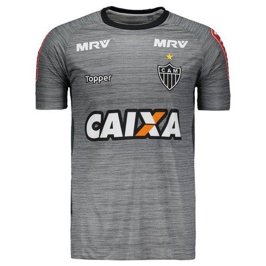 3bd4525a10 Camisa Topper Atlético Mineiro Treino 2017 - Grafite - Compre Agora ...