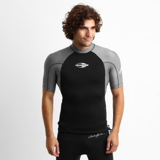 Camisa Surf Mormaii Neoprene Extra Line 0.5 mm Masculina - Preto+Cinza dc9f88caa7