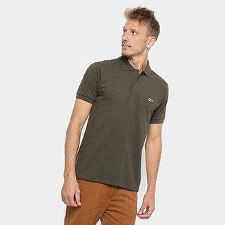 8d794f4c8f27e Camisa Polo Lacoste Mescla Masculina