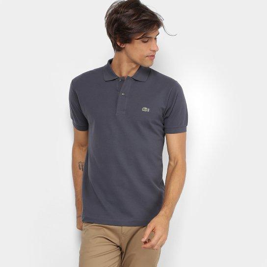 Camisa Polo Lacoste Piquet Original Masculina - Grafite - Compre ... 5034b2f80707f