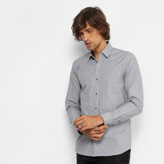 Camisa Lacoste Slim Fit Quadriculado Masculina - Grafite - Compre ... 878c56d13b