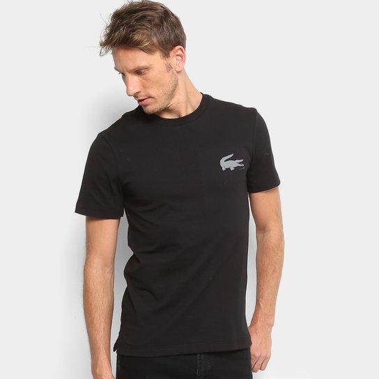 Camiseta Lacoste Logo Masculina - Compre Agora   Netshoes a2d7dcd633